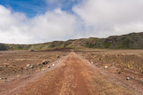 "Dirt road in ""la plaine des sables"", la Reunion island"