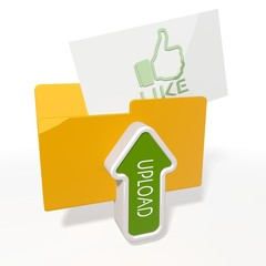 upload like file folder icon