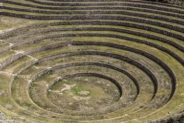 Peru, Moray, ancient Inca circular terraces.