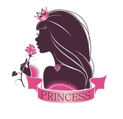 Портрет принцессы с розой в руке