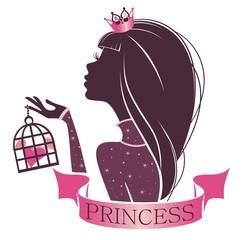 Портрет принцессы с сердцем в клетке