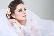 Portrait of beautiful bride. Wedding dress. Wedding decoration - 60589415