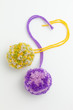 Pom poms, fluffy, decorative ball made from wool - 60589880