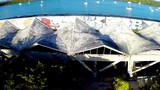 Aerial footage of the Miami Marine Stadium