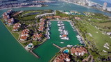 Aerial video of Fisher Island Miami Beach