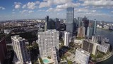 Aerial footage of Brickell Miami