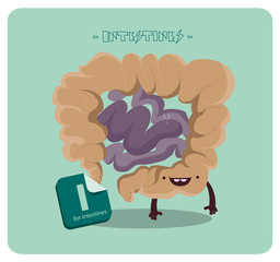 Intestines Vector Character