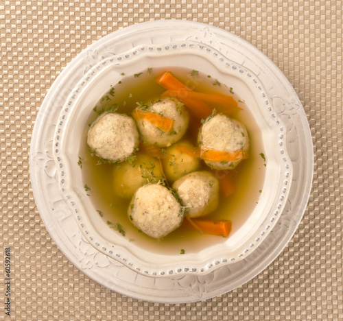 Traditional Matzah Ball Soup for Passover