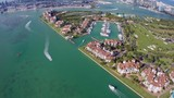 Aerial footage of Fisher Island