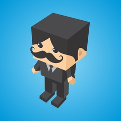 isometric cartoon