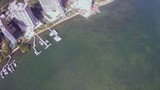 Aerial footage of Brickell Bay
