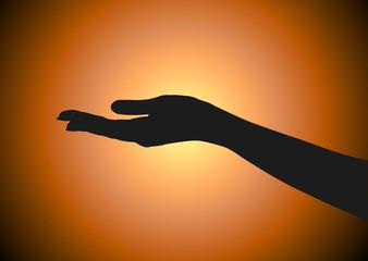 Silhueta Mão