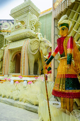 Goddess Durga, artwork and decoration, Durga Puja Festival