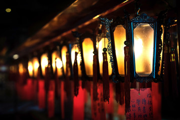 Lamps at Man Mo Temple, Sheung Wan, Hong Kong