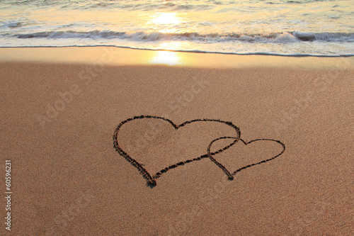 Love Hearts on the beach