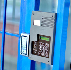 Electronic door directory and security pad