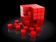 red cubes construction