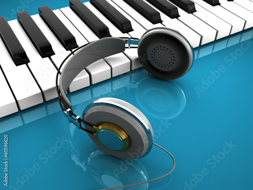 piano and headphones