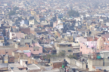 Old Delhi city view from the top