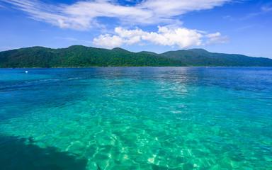 Beautiful sea at tropical island
