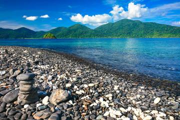 Beautiful pebble island at tropical sea, Koh Lipe, Andaman Sea,
