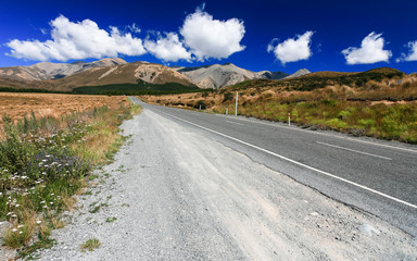Road to the mountain, New Zealand