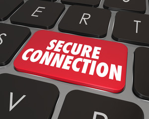 Secure Connection Computer Keyboard Key Internet Online Security