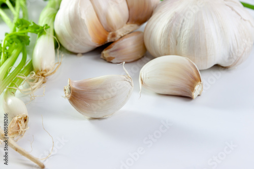 garlic  and vegetable