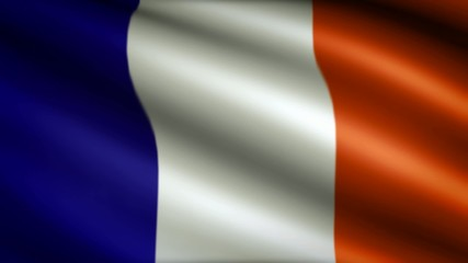 Flag of France, looping