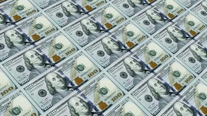 Printing Money Animation,100 dollar bills