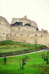Walls of a medieval fortress