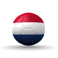 Kingdom of the Netherlands  flag textured on soccer ball , clip