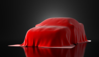 new car presentation - 3d render