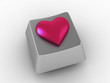 Pink heart shape button