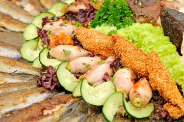 Delicious fish food