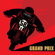 Vintage Motorcycle race label, vector illustration