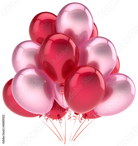 Party balloons birthday decoration pink red love helium balloon