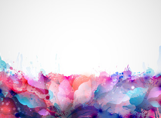 abstract background forming by blots and design elements