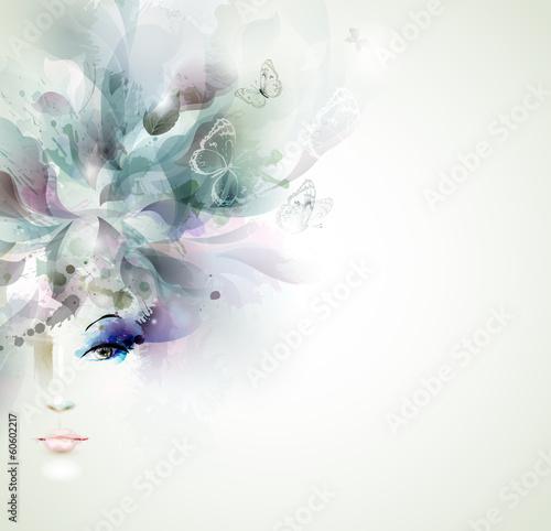 Beautiful fashion women face - 60602217