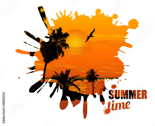 Summer time design poster