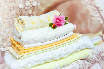 stack of clean towels