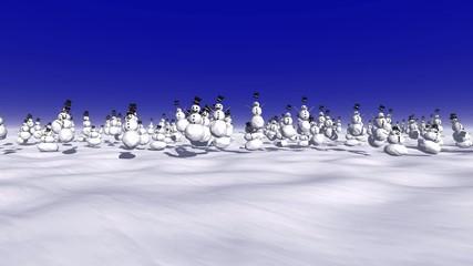 Schneemänner  - Der Winter kommt