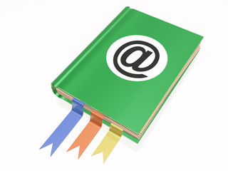 Book with e-mail sign