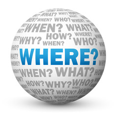 """WHERE?"" Globe (questions directions map tourist information)"