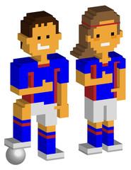 サッカー選手_ブロック