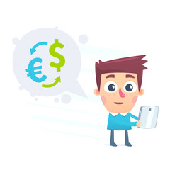Currency conversion using the online application