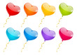 Set of color heart balloons