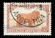 Stamp printed in Argentina featuring a Merino sheep, circa 1936