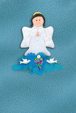 first communion invitation cheerful angel