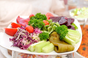 Fresh colorful salad